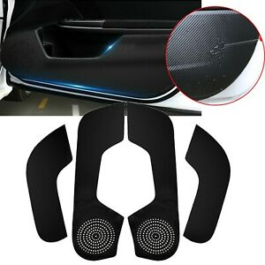 For Honda Civic 16 17 18 19 20 Pu Leather Door Anti Kick Pad Protect Cover Trims