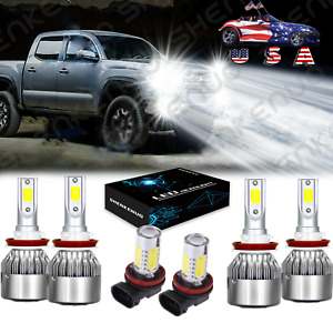 For Toyota Tacoma 2016 2017 2018 2019 6000k Led Headlight Fog Light Bulbs 6x
