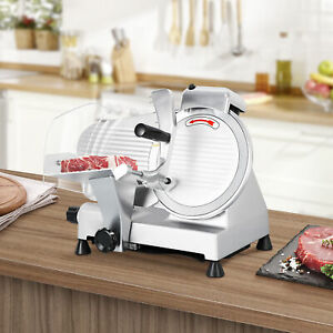 Food Cheese Electric Slicer Deli Meat Slicer 240w 530rpm Commercial 10 Blade