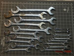Mac Tools 18pc Sae 4 Way Angle Head Open End Wrench Set 3 8 1 1 2 Four
