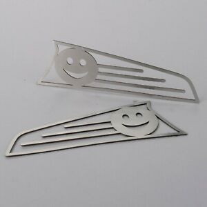 1970 1979 Vw Beetle Thing Stainless Front Turn Signal Covers Brushed Smiley Face