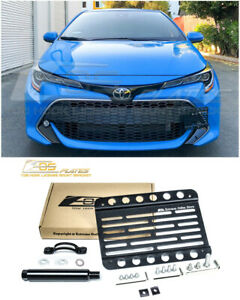Eos Plate For 19 up Toyota Corolla Hatchback Front Tow Hook License Bracket