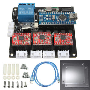 Usb 3 Axis Stepper Motor Driver Board Controller For Laser Engraving