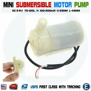 Micro Submersible Pump Motor Water Pump Dc 3v 5v Mini Water cooled Mute Diy