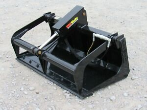48 Solid Bottom Bucket Grapple Attachment Fits Toro Dingo Mini Skid Steer