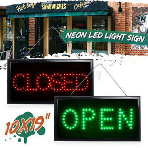 Open closed Led Sign Neon Light Sign With Flashing For Business Bar Store