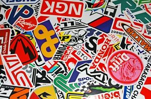 100pcs Lot Car Racing Stickers Decal Motocross Motorcycles Vintage Decal Sticker