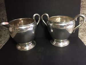 Vintage Empire Sterling Silver 27 Cream Creamer Sugar Bowl Set Weighed