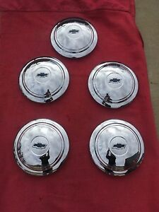 1936 Chevrolet Standard Fc New Nors Artillery Wheel Hubcaps Trim set Of 5