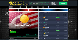 Cryptoeznews com Affiliate Product Website 100 Automated complete Website