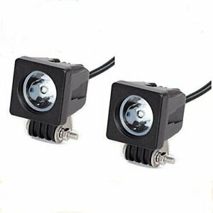 2x Cree 10w Led Work Light Flood Offroad 4x4 Atv Truck Motorcycle Fog Lamp
