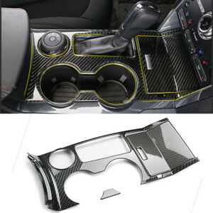 For Ford Explorer 2013 2018 Carbon Fiber Look Gear Water Cup Panel Cover Trim