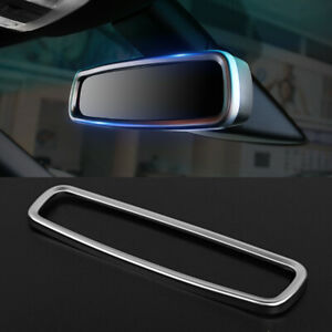 For Ford Explorer 2013 2020 Matte Chrome Interior Rearview Mirror Decorate Cover