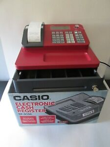 Casio Se g1 Electronic Cash Register Red With Rear Display Key