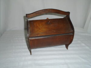 Antique Vintage Wooden Sewing Box