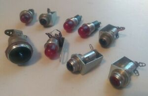 9pc Vtg Dialco Pilot Cabin Control Panel Lights Bulbs Steampunk