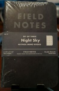 Field Notes Night Sky Notebooks Fnc 19 Sealed 3 pack Unopened Pls Read