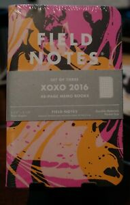 Field Notes Xoxo 2016 Notebooks Sealed 3 pack New Mark Weaver