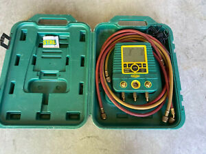 Refco Digimon Ch 6285 Digital Leak Manifold Hvac Refrigerant W Hose Gauges