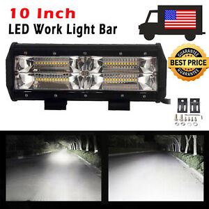 10 Inch 144w Cree Led Work Light Bar Roof Lamp Spot Beam Offroad Ute Truck 4wd