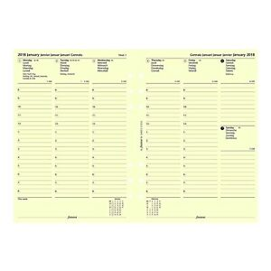 Filofax A5 Size Week On Two Pages 2020 Calendar Refill A5 Cotton Cream