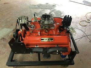 Chevy 327 V8 Carburated Sbc Engine 3782870 Fresh Rebuild