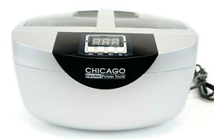 Chicago Digital Ultrasonic Jewelry Cleaner 2 5 Quart Capacity Heated 5 Clean Set