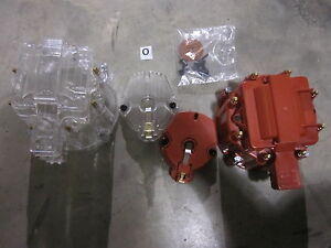 Chevy Pontiac Buick Gm V8 Hei Distributor Cap W O Coil Red And Clear