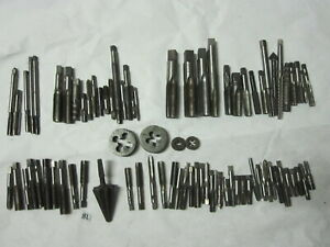 Tap Lot Die Bits Machinist Tool Amt D Co Card Craftsman Gtd Morse 9 16 3 8 Etc