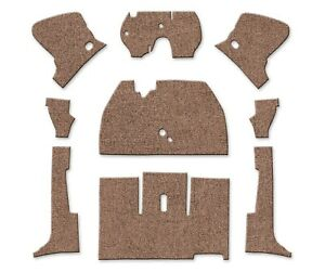 1956 1957 Vw Beetle Convertible Front Carpet Set Loop Oatmeal 9 Piece 398020893