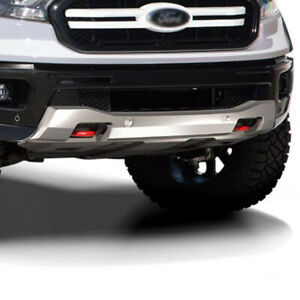 Fits 19 20 Ford Ranger Air Design Front Bumper Skid Plate Satin Silver Fo26a36