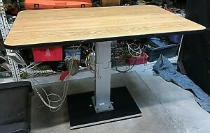 Huasmann Electronic Elevating Table 4375 Work Surface Adjustable 27 To 43 High