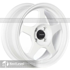 Circuit Cp22 15 6 5 4 100 35 Gloss White Wheels Fits Acura Integra Ls Gsr Dc2