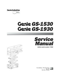 New Terex Genie Gs 1530 And Gs1930 Scissor Lifts Service Manual