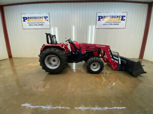 2018 Mahindra 4540 Tractor With 4x4 4550 4l Front End Loader