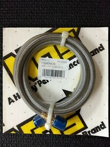 New Old Stock Nos Stainless Braided Hose 4an 3 Blue Fitting nitrous 15240nos