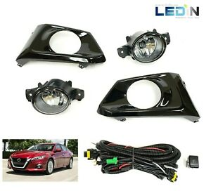 Clear Lens Driving Fog Lights Kit For 2019 2020 Altima W bezel Switch Wires Set