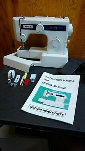 Necchi Sewing Machine Model 3101 Fa Leather Upholstery Free Arm Serviced