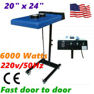 6000w 20 X 24 Automatic Ir Flash Dryer With Sensor 220v For Screen Printing