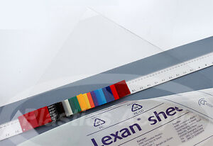 Clear Polycarbonate Lexan Sheet 030 X 11 X 11