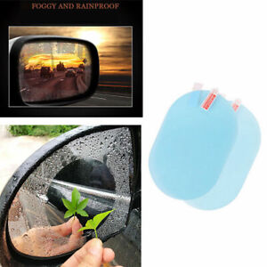 2x Oval Car Auto Anti Fog Rainproof Rearview Mirror Protective Film Accessory