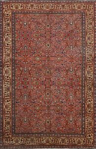 Vegetable Dye Vintage Floral Anatolian Turkish Area Rug Hand Knotted Carpet 4x7