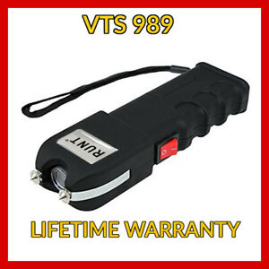 Vts 989 Stun 180bv Heavy Duty Stun Gun Rechargeable Led Flashlight Free Case
