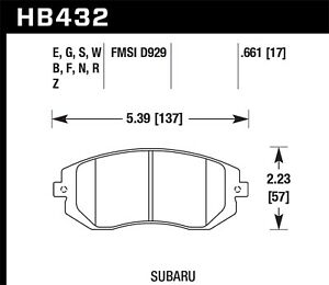 Hawk Performance Hb432n 661 Hp Plus Disc Brake Pad