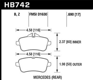 Hawk Performance Hb742b 690 Hps 5 0 Disc Brake Pad