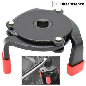 Oil Filter Wrench 1 Way 3 Jaw Oil Fuel Filter Wrench Removal Adjustable Tool