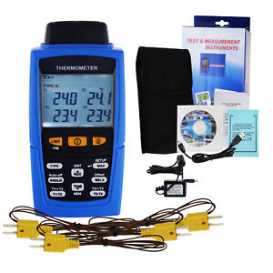 Digital Thermocouple Thermometer K j T E R S N Type 16 800 Data Logging