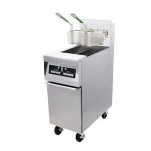 Frymaster Mj150 50 Lb Stainless And Enamel Gas Fryer