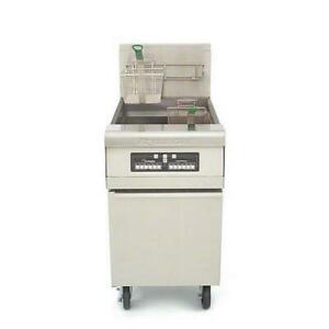 Frymaster Mj1cf 80 Lb Stainless And Enamel Gas Fryer