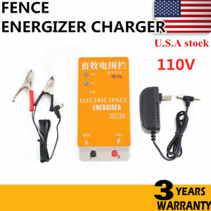 Solar Electric Fence Energizer Charger High Voltage Pulse Electric Cattle Fence